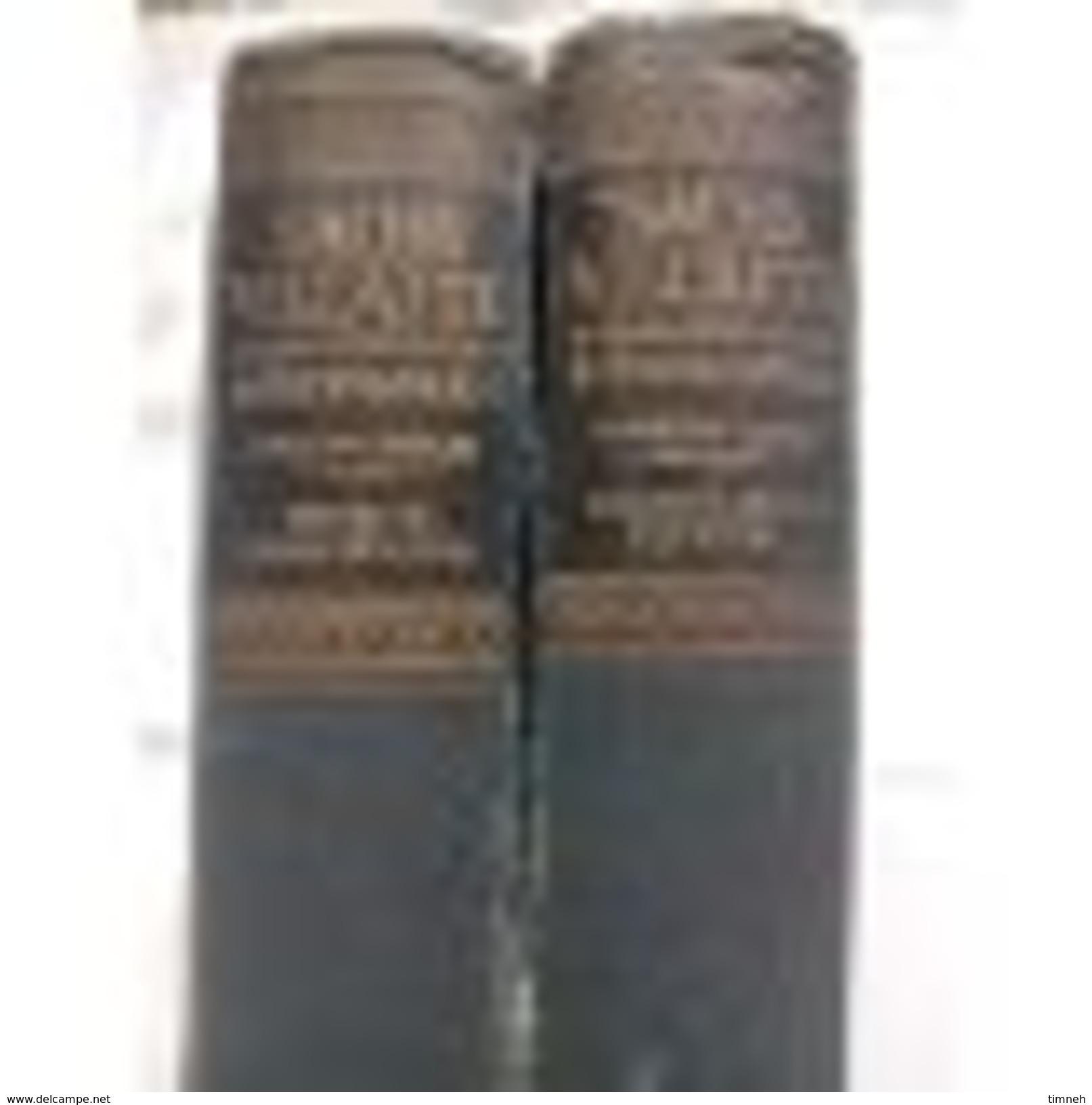OLD GERMAN SACHS - VILLATTE - En 2 TOMES - Français-allemand & Allemand Français - Toussaint Langenscheidt - WÖRTERBUCH - Encyclopédies