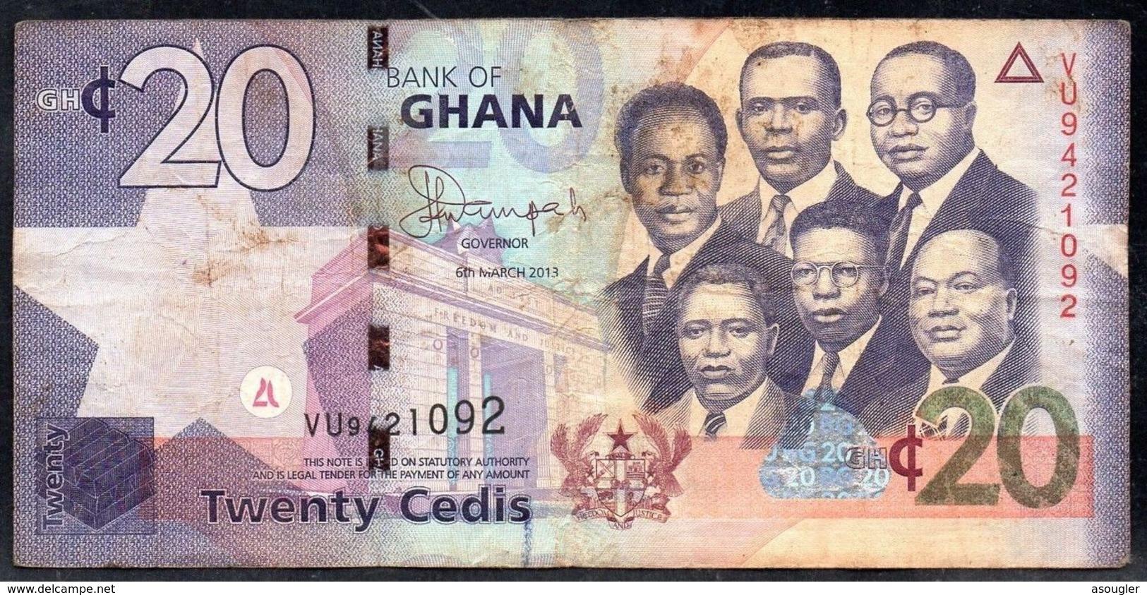 GHANA 20 CEDIS 6-3-2013 VG-F - Ghana