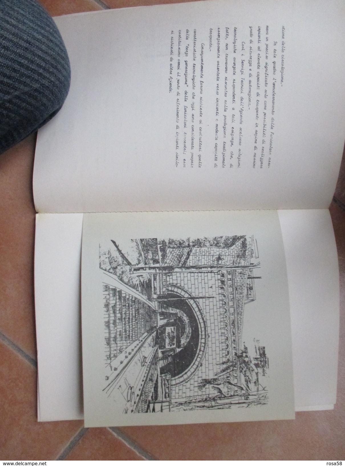 Napoli A.T.A.N 1984 Funicolare Di MONTESANTO Presentazione Opera E Tavole Allegate - Mapas
