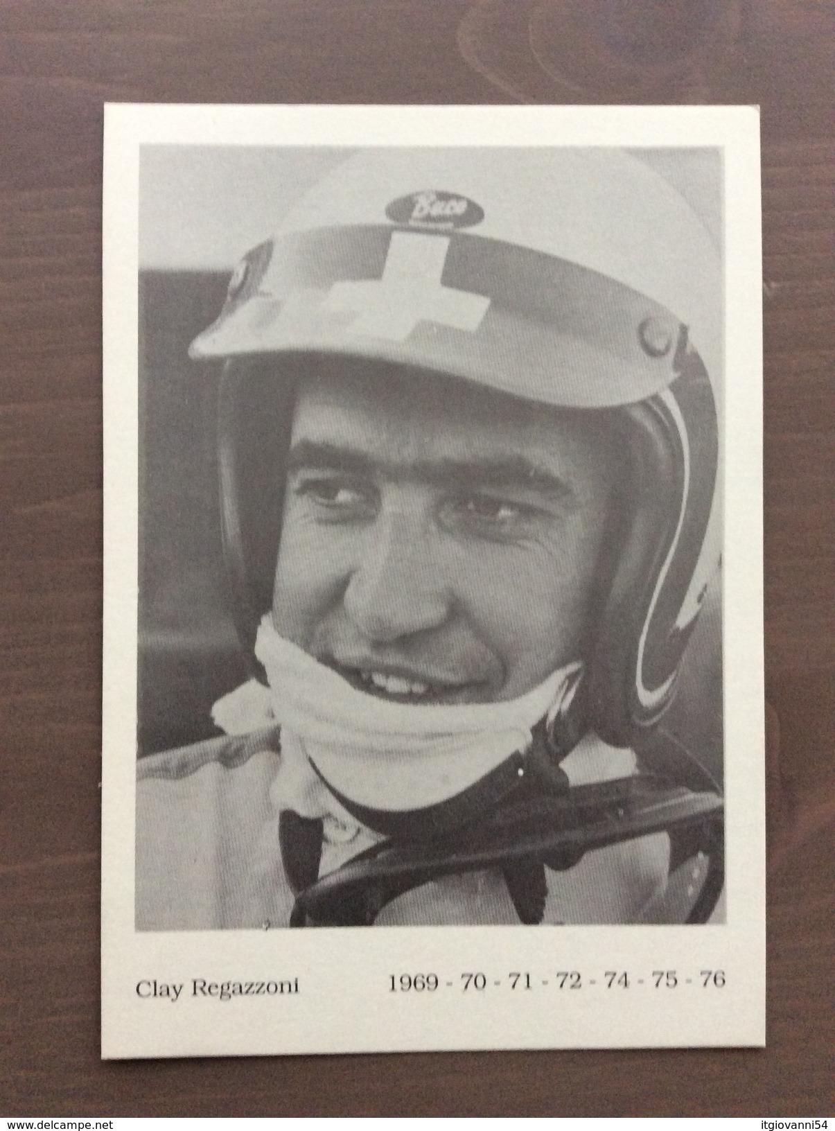 Fotografia Tipo Cartolina Del Pilota Ferrari F1 Clay Regazzoni Negli Anni 1969-70-71-72-74-75-76 - Grand Prix / F1