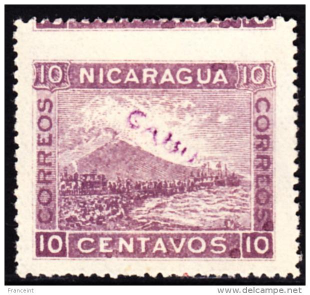 Nicaragua Cabo Gracias A Dios 1904 10c Mt. Momotombo Imperf At Top. Scott 2L8. MNG. - Nicaragua