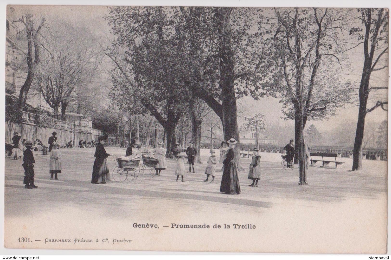 GENEVE - PROMENADE DE LA TREILLE - N° 1301 - GE Ginevra