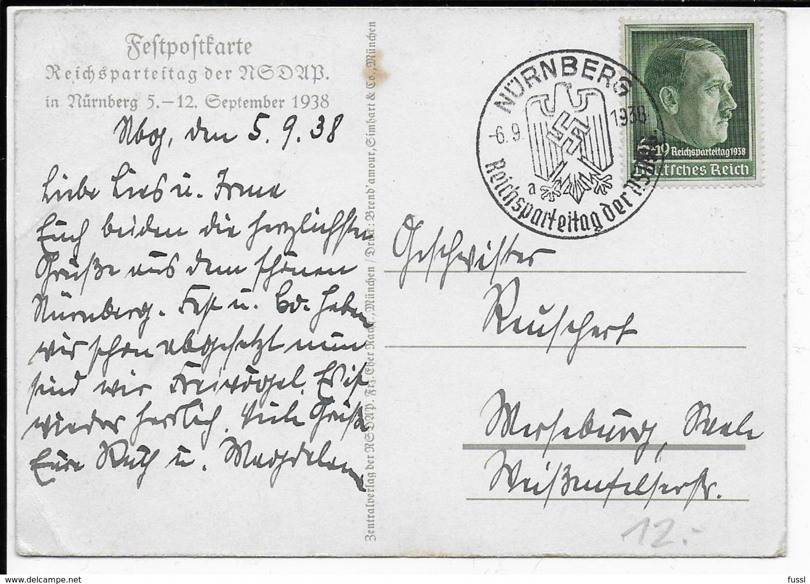 Reichsparteitag Nürnberg, Propaganda, Hakenkreuz, Swastika, Hitler - Weltkrieg 1939-45