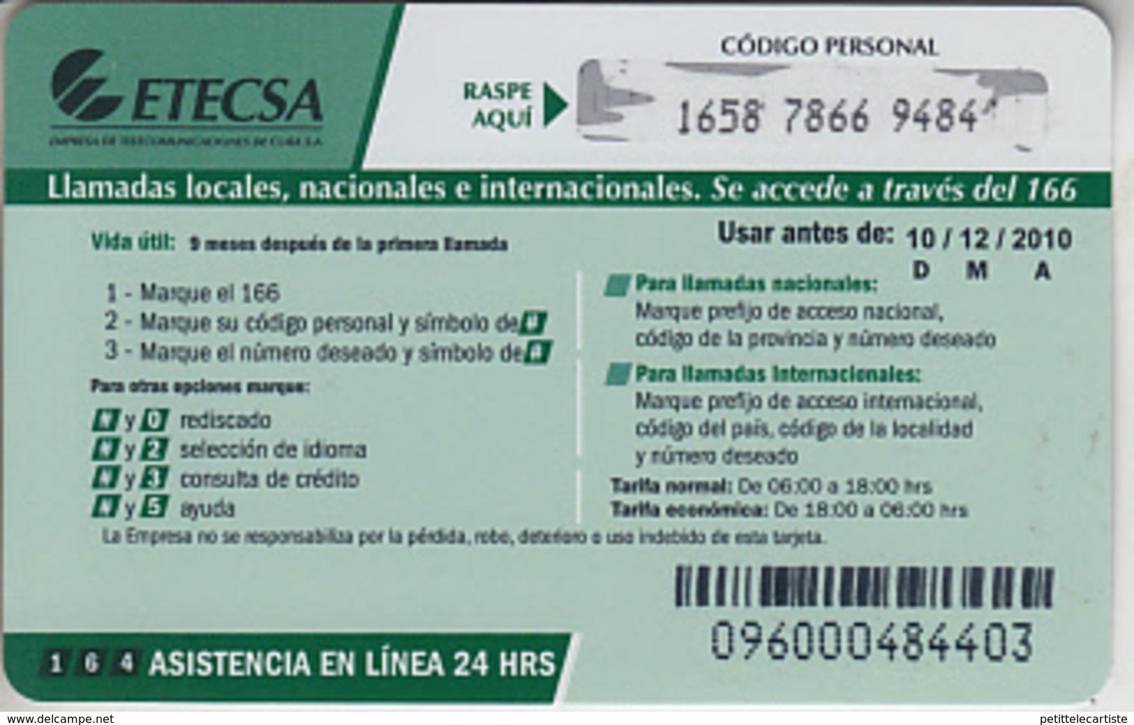 CUBA - PHONE CARD - PRÉPAIDS   ***     VARADERO - NAUTICA  *** - Cuba