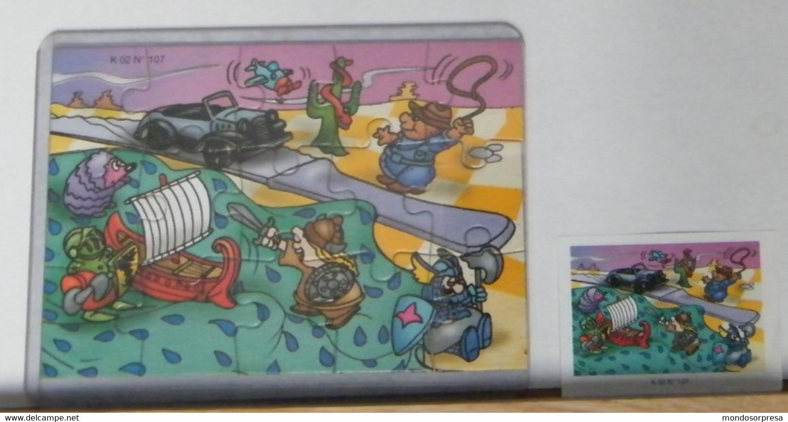 MONDOSORPRESA - PUZZLE FERRERO, FIGURATIVO K 02 N° 107 + CARTINA - Puzzles