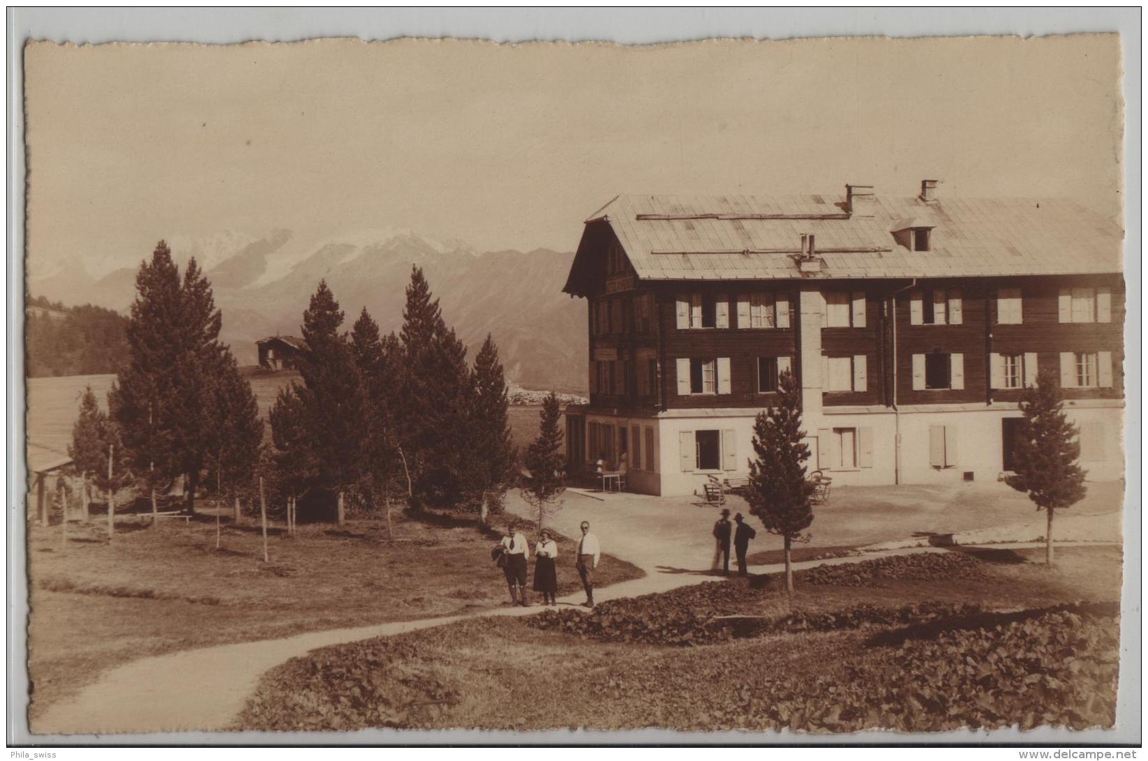 Hotel Riederalp Ob Mörel - Blindenhorn - Animee Belebt - Photo: E. Gyger No. 4947 - VS Valais