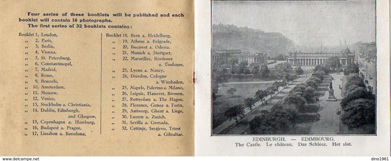 VP7950 - Livret Publicitaire N° 14 DUBLIN, EDINBURGH & GLASGOW - COCOA  BENSDORP & Co à AMSTERDAM - Advertising