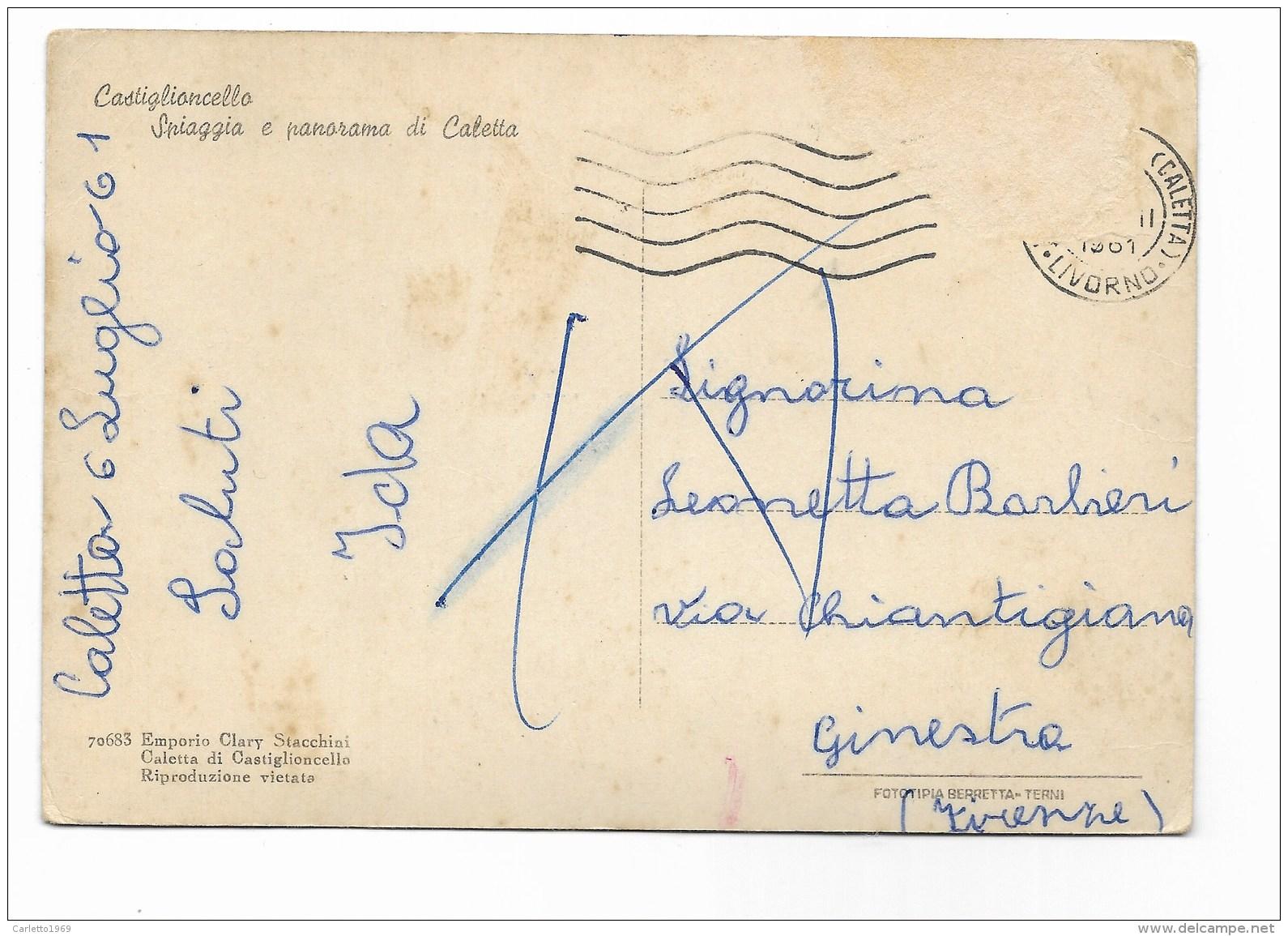 CASTIGLIONCELLO SPIAGGIA E PANORAMA DI CALETTA  VIAGGIATA  FG - Livorno