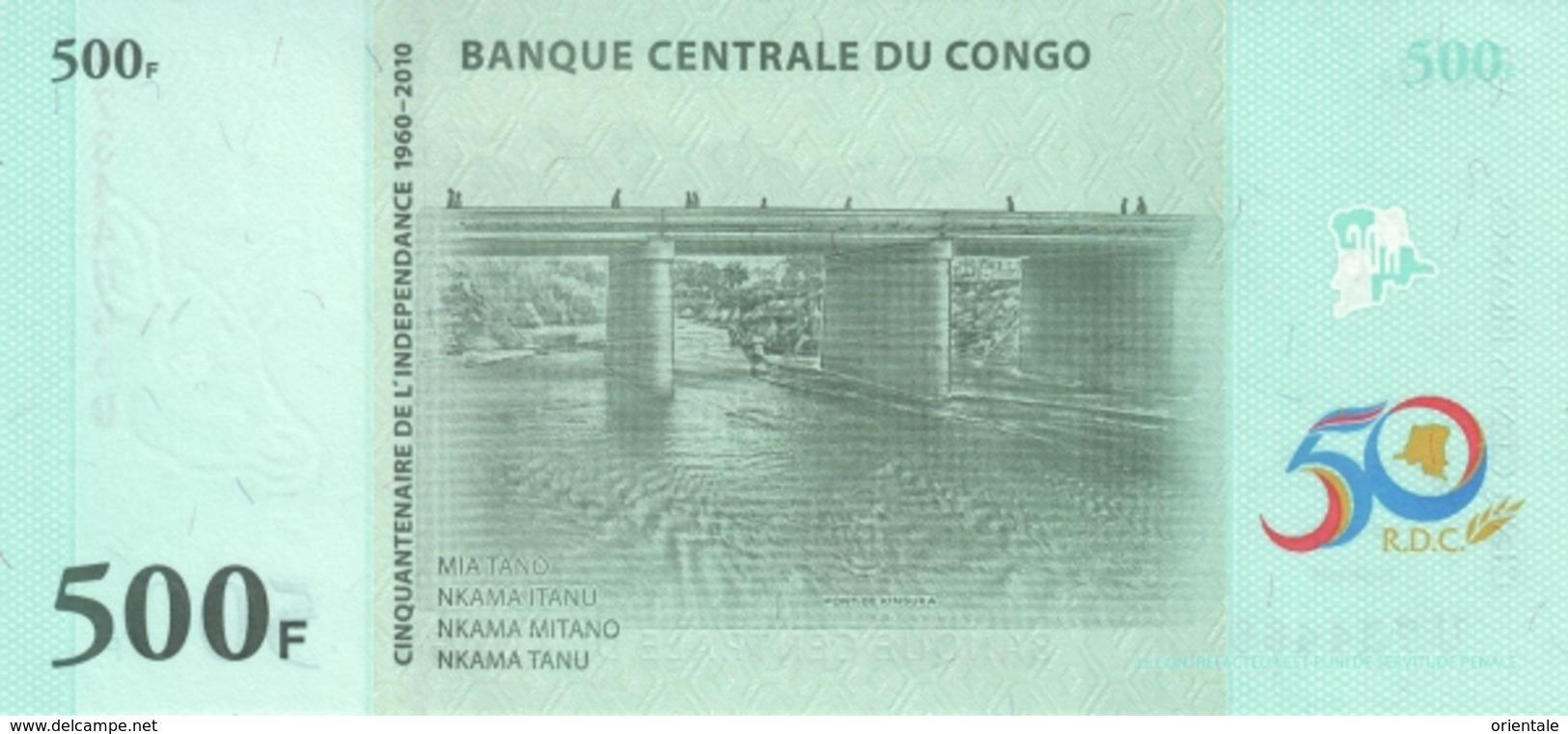 CONGO D.R. P. 100 500 F 2010 UNC - Repubblica Democratica Del Congo & Zaire