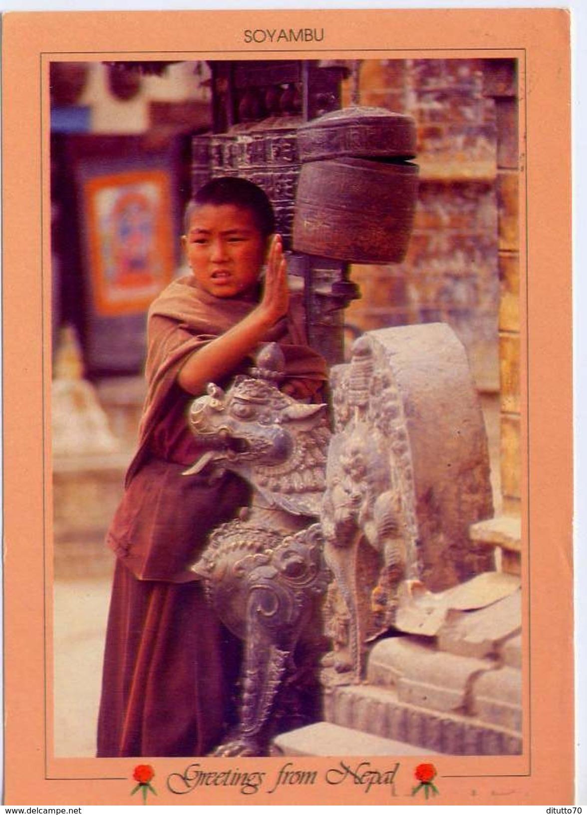Nepal - Soyambu - Namaste - Formato Grande Viaggiata - E - Nepal