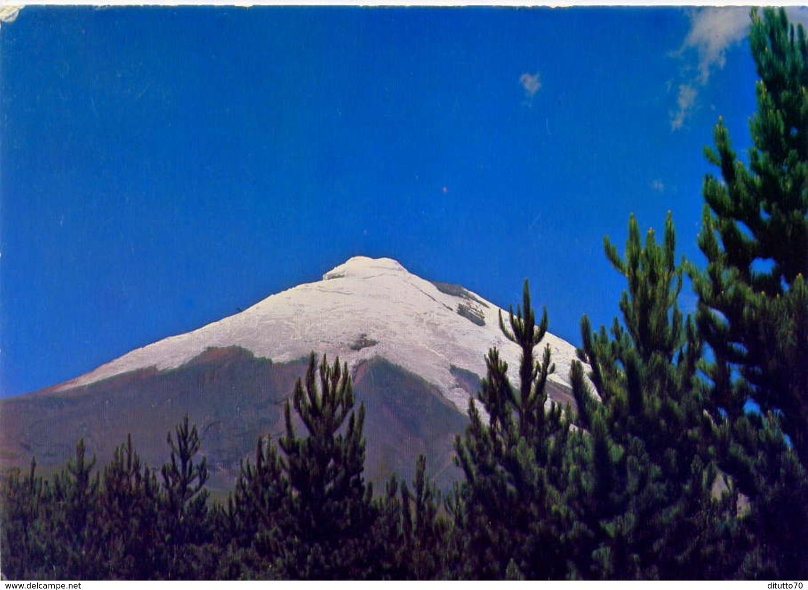 Equador - Sud America - El Cotopaxi 5.897 Mt. - Formato Grande Viaggiata - E - Ecuador