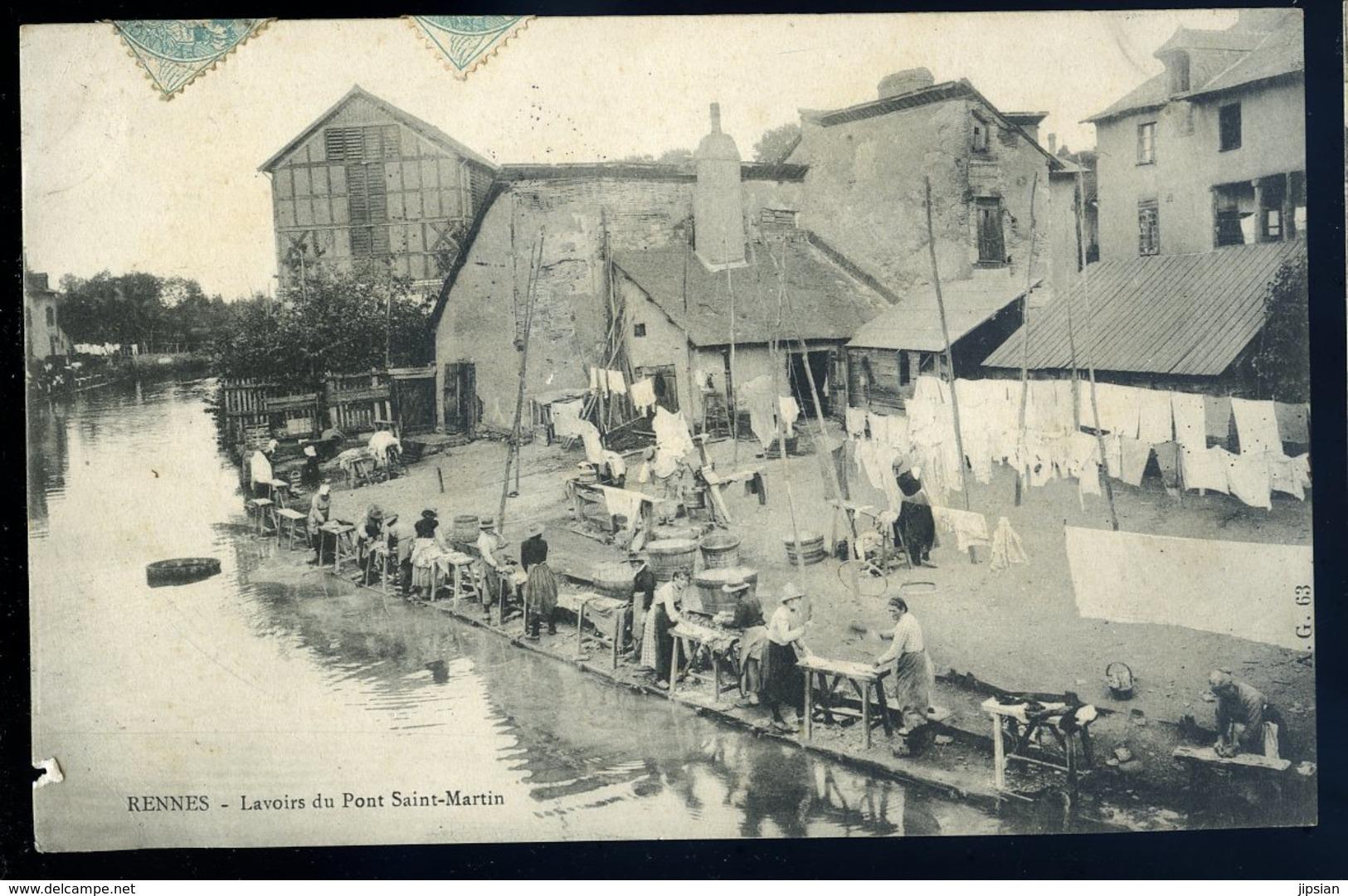 Cpa Du 35  Rennes Lavoirs Du Pont Saint Martin  NCL49 - Rennes