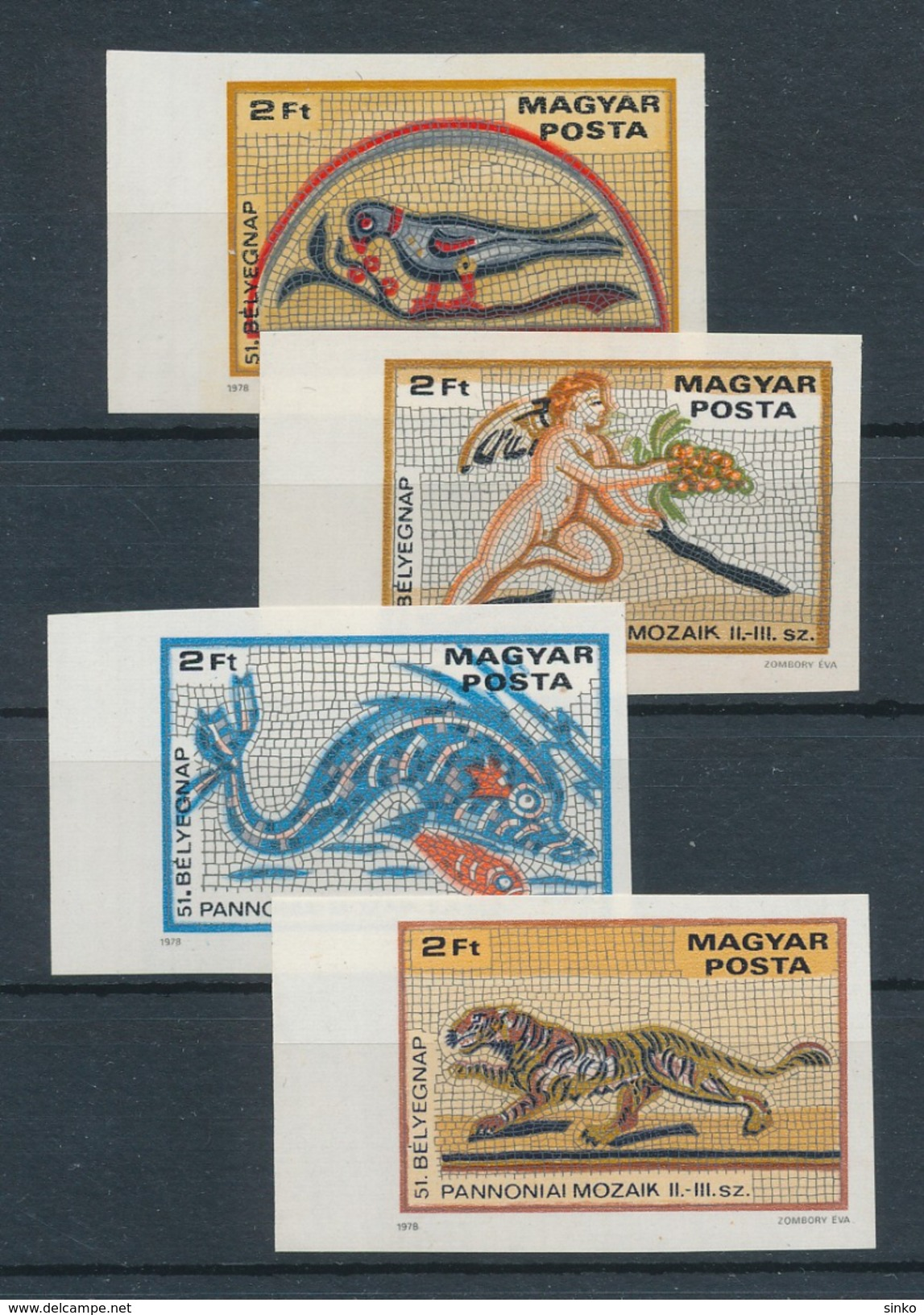 1978. Stampday 51. - Pannonia Mosaics - Imperforated :) - Ungebraucht