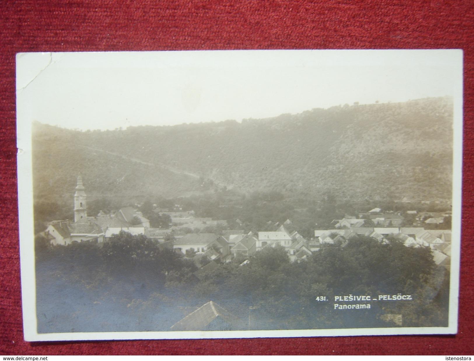 SLOVAKIA - PLESIVEC / HUNGARY - PELSOC / 1930 - Slovaquie