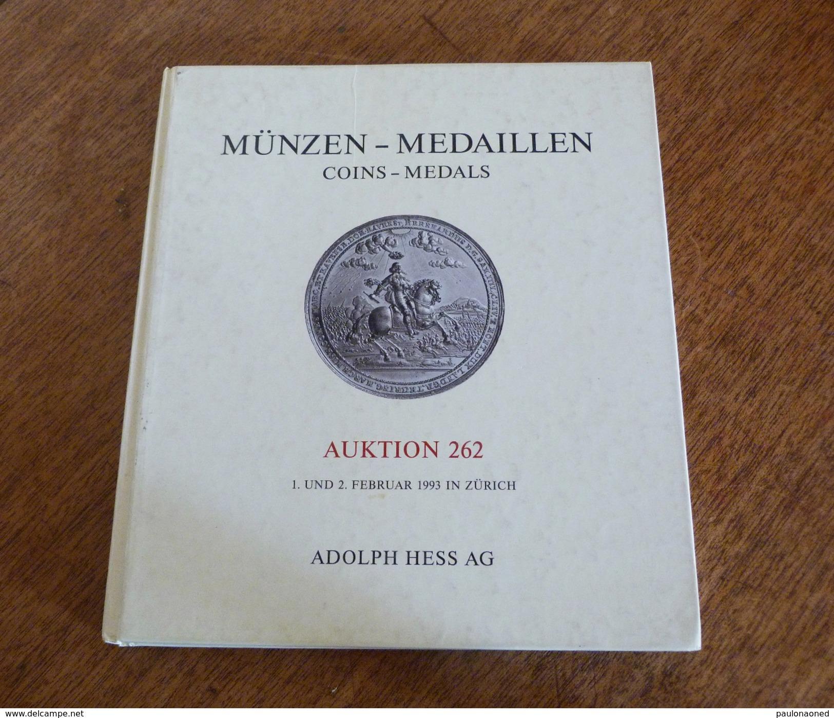 MUNZEN - MEDAILLEN   AUKTION 262 - Livres & Logiciels