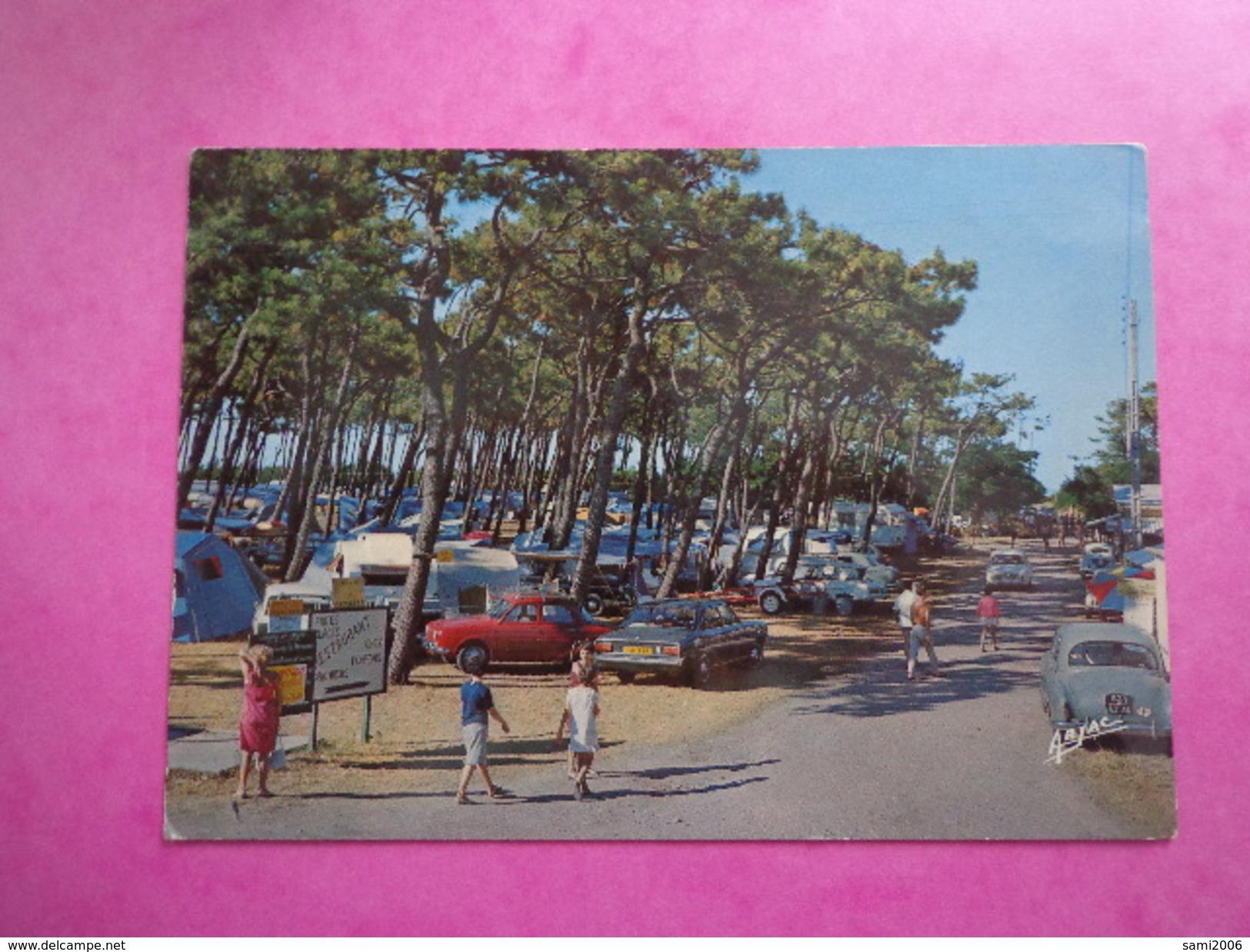 CPA PHOTO 17 ÎLE D'OLERON ST DENIS CAMPING  VOITURES ANCIENNES - Ile D'Oléron