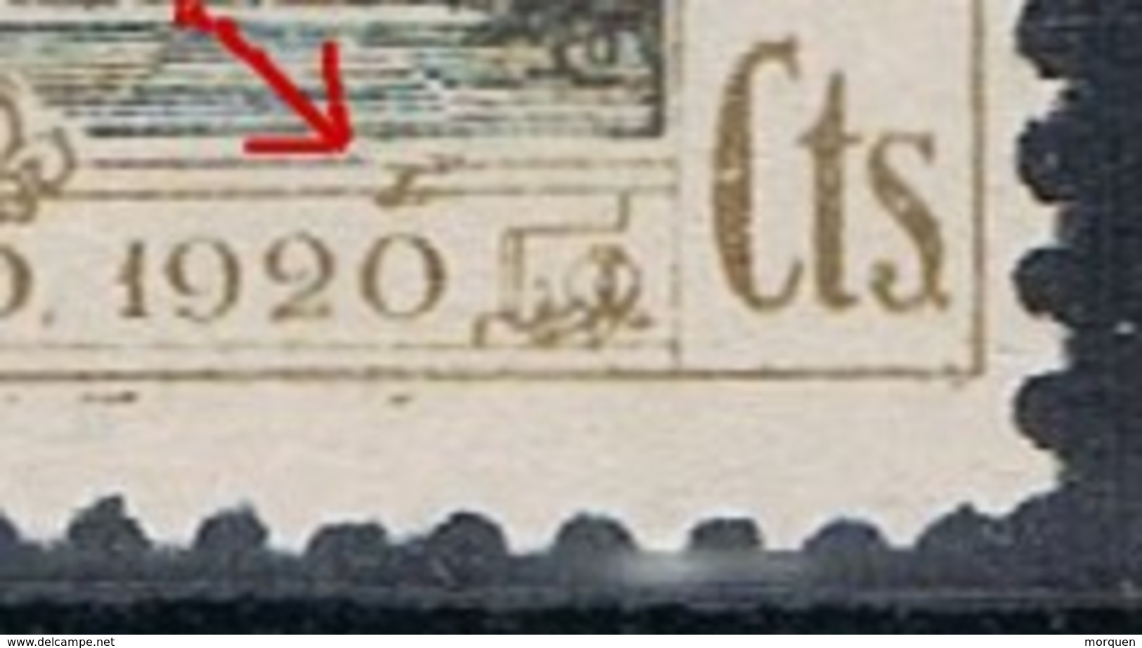 Sello 2 Cts Alfonso XIII U.P.U.  Variedad Impresion , Edifil Num 298 ** - 1889-1931 Reino: Alfonso XIII