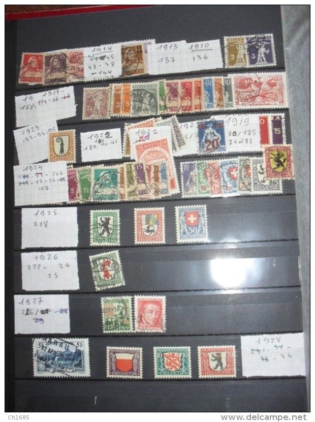 SUISSE   :   De 1862  à  1994   Neuf  XX Et Oblitérés  Cote Importante   49 Scans - Collections
