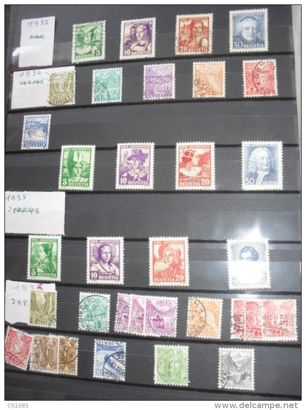 SUISSE   :   De 1862  à  1994   Neuf  XX Et Oblitérés  Cote Importante   49 Scans - Suisse