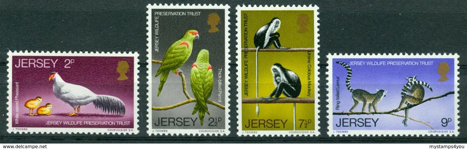 BM Jersey 1971 | MiNr 49-52 | MNH | Schützt Die Wildtiere - Jersey