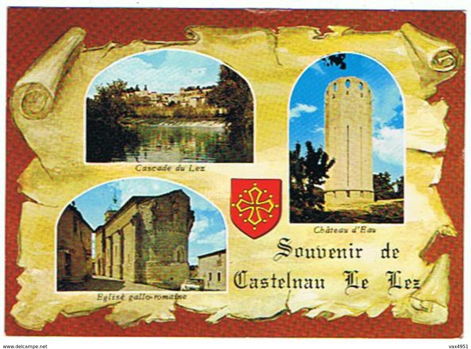 SOUVENIR DE  CASTELNAU LE LEZ    MULTIVUES     *****  RARE        A  SAISIR ****** - Castelnau Le Lez