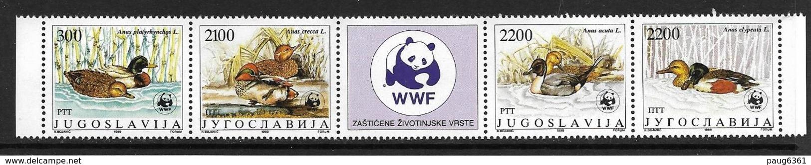 YOUGOSLAVIE 1989 WWF-CANARDS  YVERT N°2111/14  NEUF MNH** - W.W.F.