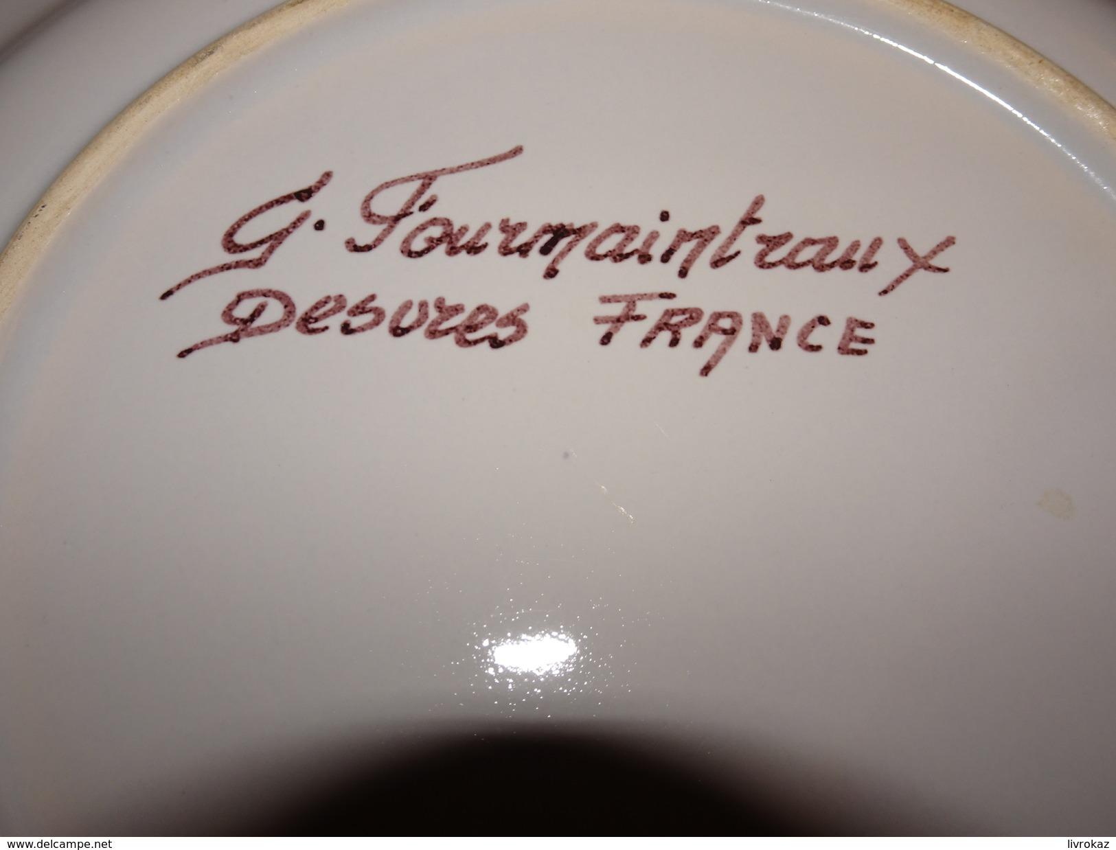 Assiette Bouquet Provincial Guerbigny, Somme, 1963, Tir à L'arc, Archerie, Beursault, Eglise St Pierre, Louis Pesert - Tir à L'Arc