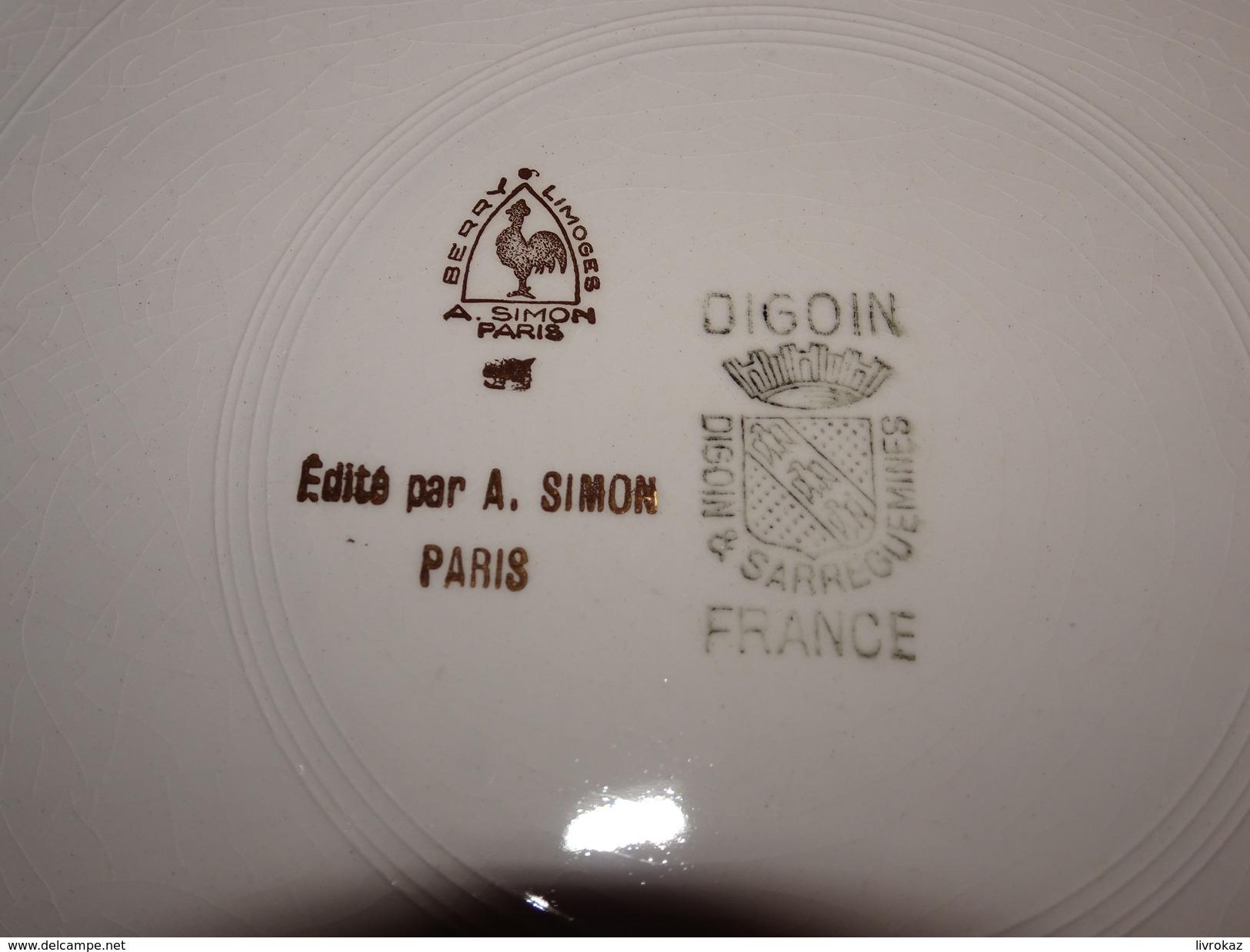 Assiette Bouquet Provincial Villeneuve Sur Fère, Aisne, 5 Juin 1960, Tir à L'arc, Archerie, Beursault, Digoin, Simon - Tir à L'Arc