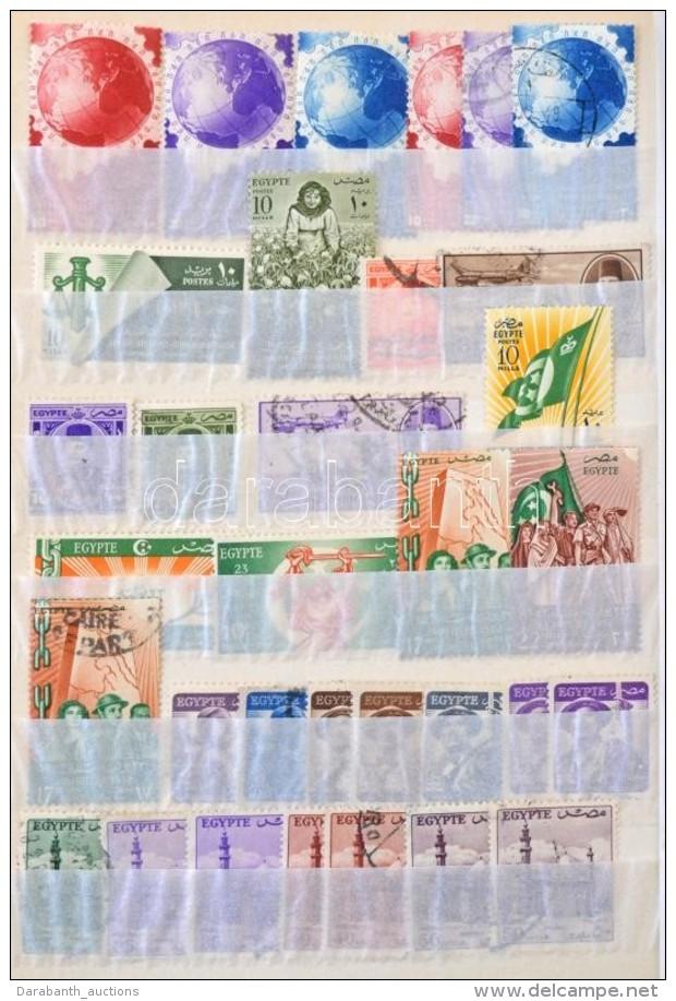 ** O Egyiptom 1867-1978 Kb. 430 Db Bélyeg Sorokkal, Jobbakkal, 10 Lapos Közepes Berakóban (Mi ... - Stamps