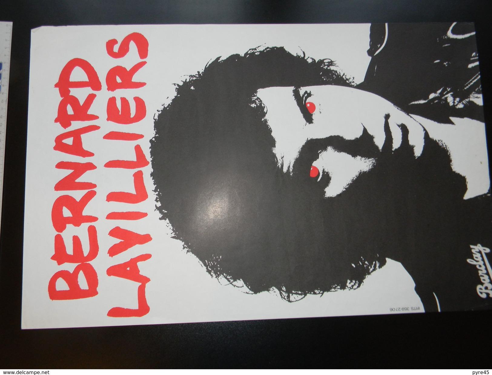 Affichette Bernard Lavilliers 58 X 37 Cm - Plakate & Poster