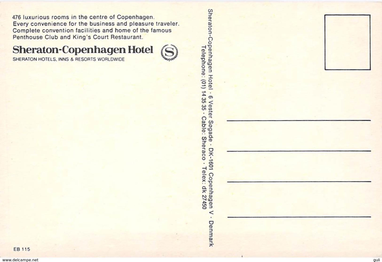 Danemark Denmark COPENHAGUE SHERATION COPENHAGEN HOTEL (Kopenhagen.)*PRIX FIXE - Danemark