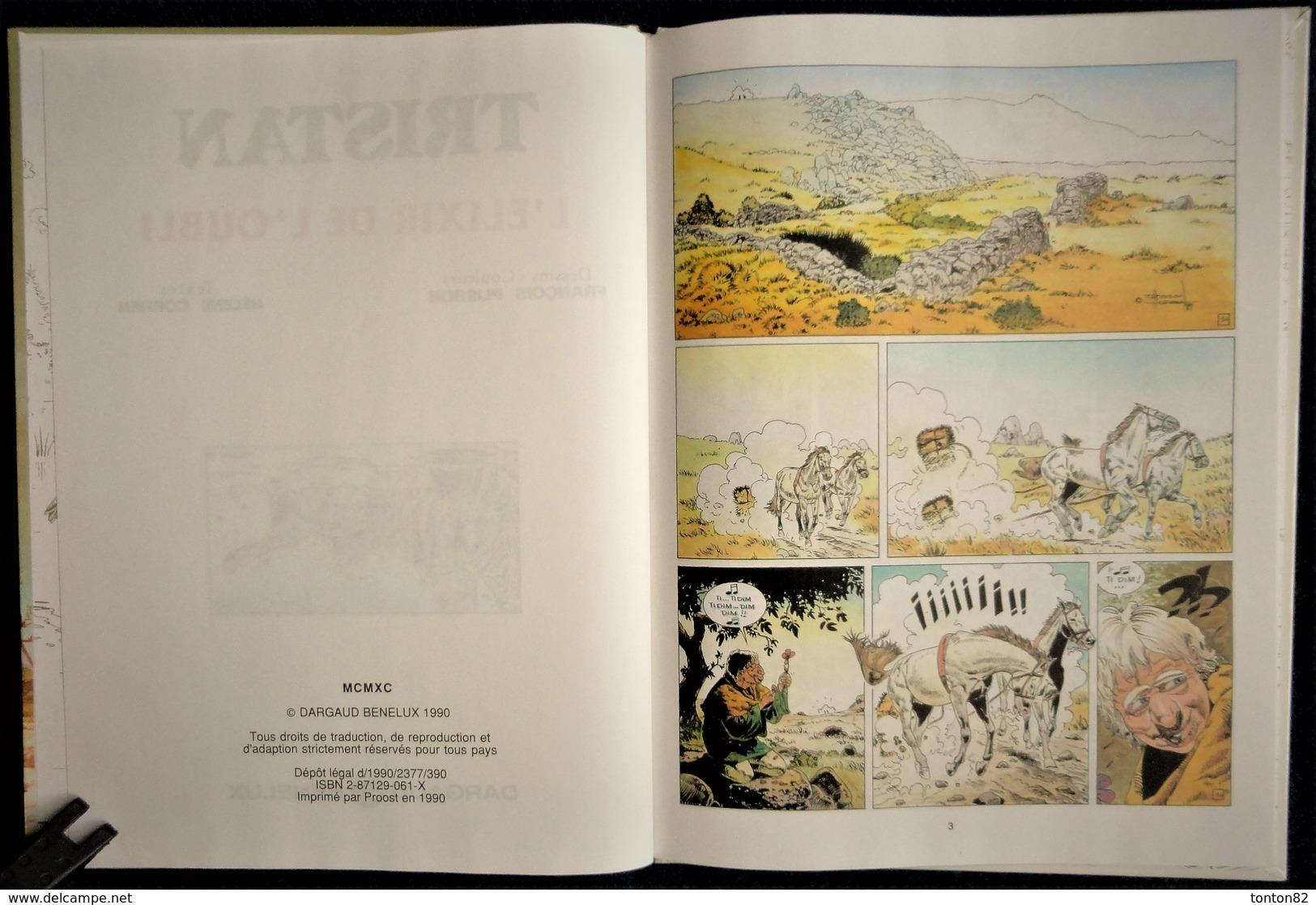 François Plisson / Hélène Cornen - TRISTAN N° 4 - L' élixir De L'oubli - Dargaud - ( E.O. 1990 ) . - Livres, BD, Revues