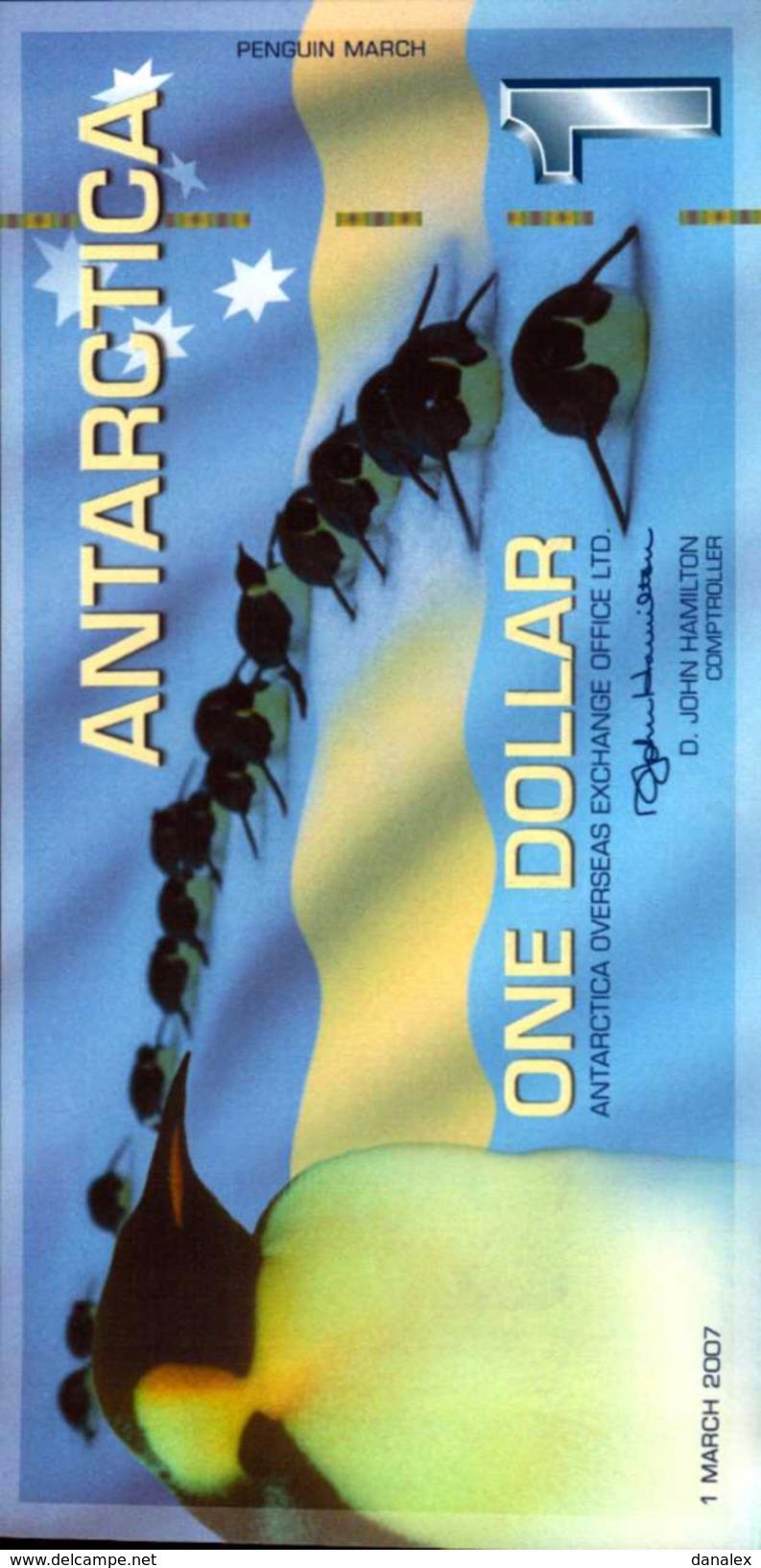 ANTARTIQUE 1 DOLLAR Du 1-3-2007  UNC/NEUF - Non Classés