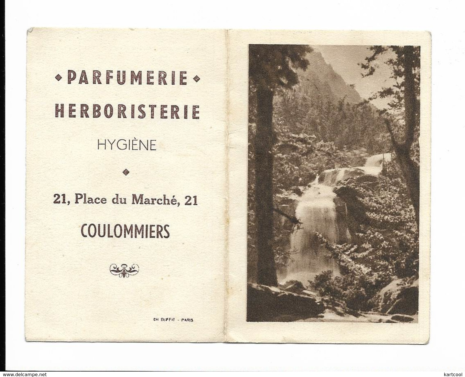Calendrier De Poche 1948 - Coulommiers Parfumerie Herboristerie - Calendriers