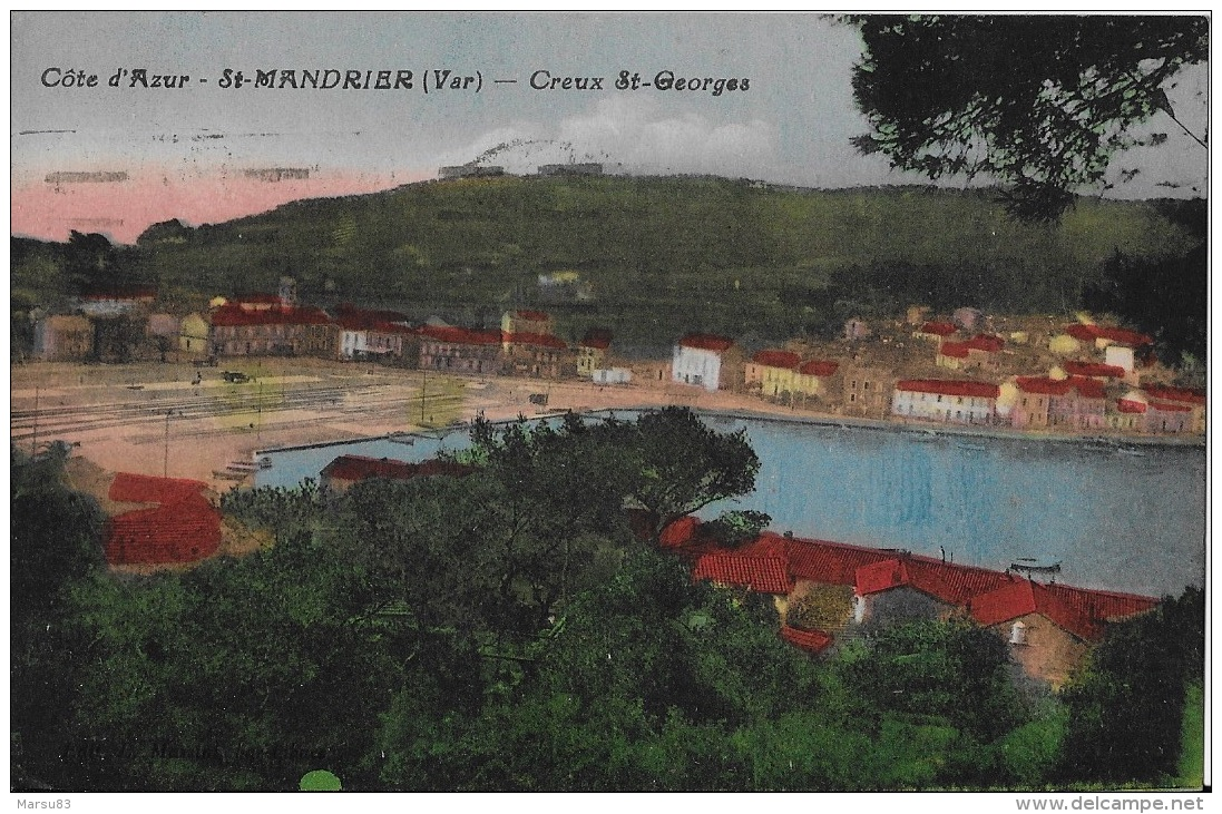 // RARE //** Belle Cpa De 1931 ** Ed. Massia Bar Tabac - Saint-Mandrier-sur-Mer