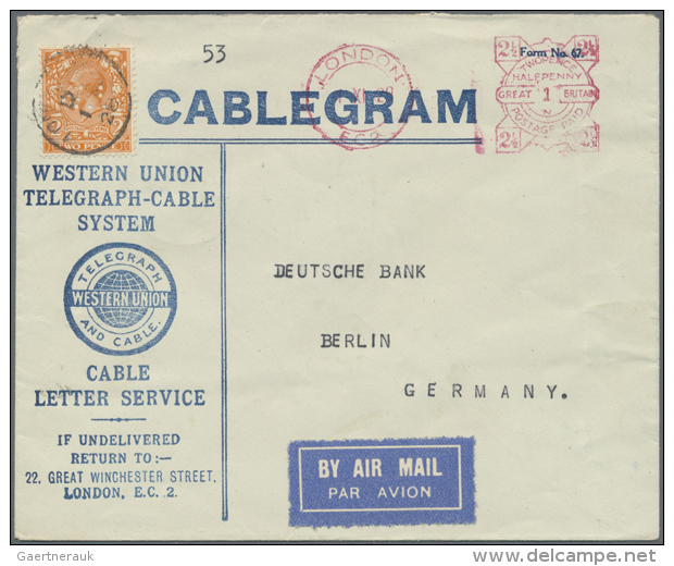 1928/1939, AIRMAIL TO GERMANY RESP. BY GERMAN AIRMAIL TO SOUTH AMERICA, Group Of 8 Covers/cards, Showing A Nice... - Great Britain