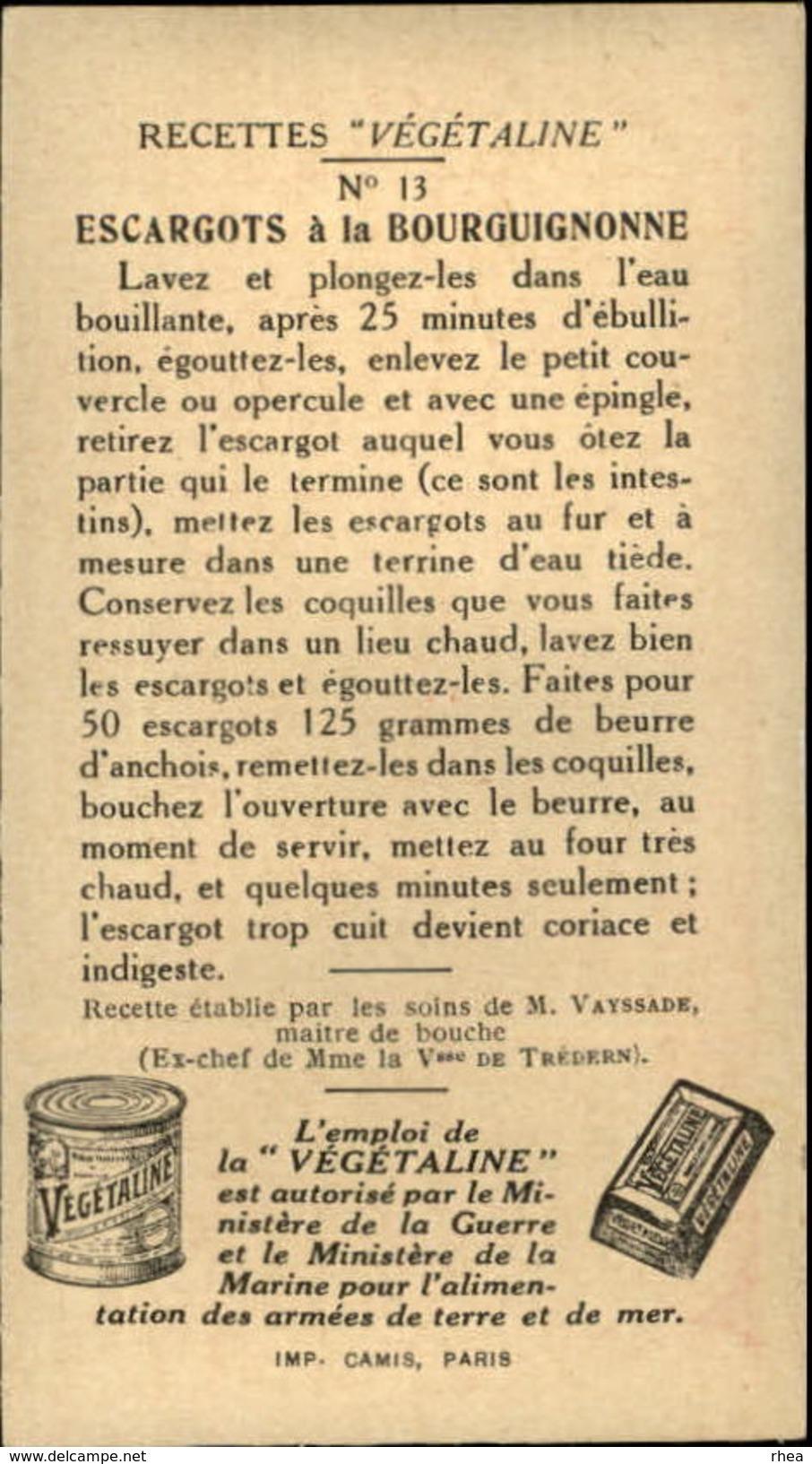 RECETTES DE CUISINE - Série Complète De 24 Chromos - Publicité Végétaline - Chromos