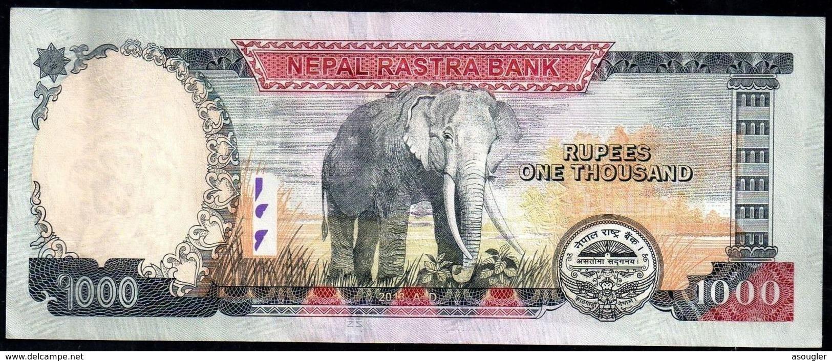 NEPAL 1000 RUPEES 2013 VF-EXF - Nepal