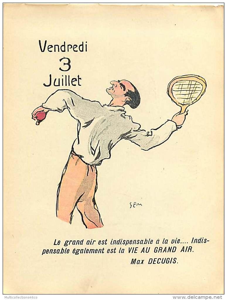100217 - Feuille Extraite De L'ALBUM REVUE Des OPINIONS CALENDRIER 1914 éphéméride - JULES VERNE PHILEAS FOGG Terre - Documentos Antiguos