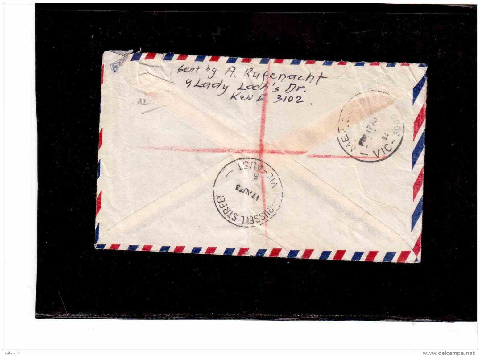 TEM8936     -   AUSTRALIAN ANTARTIC TERRITORY  POSTAL HISTORY     /     REGISTERED AIR MAIL LETTER TO SWITZERLAND5 - Territorio Antartico Australiano (AAT)