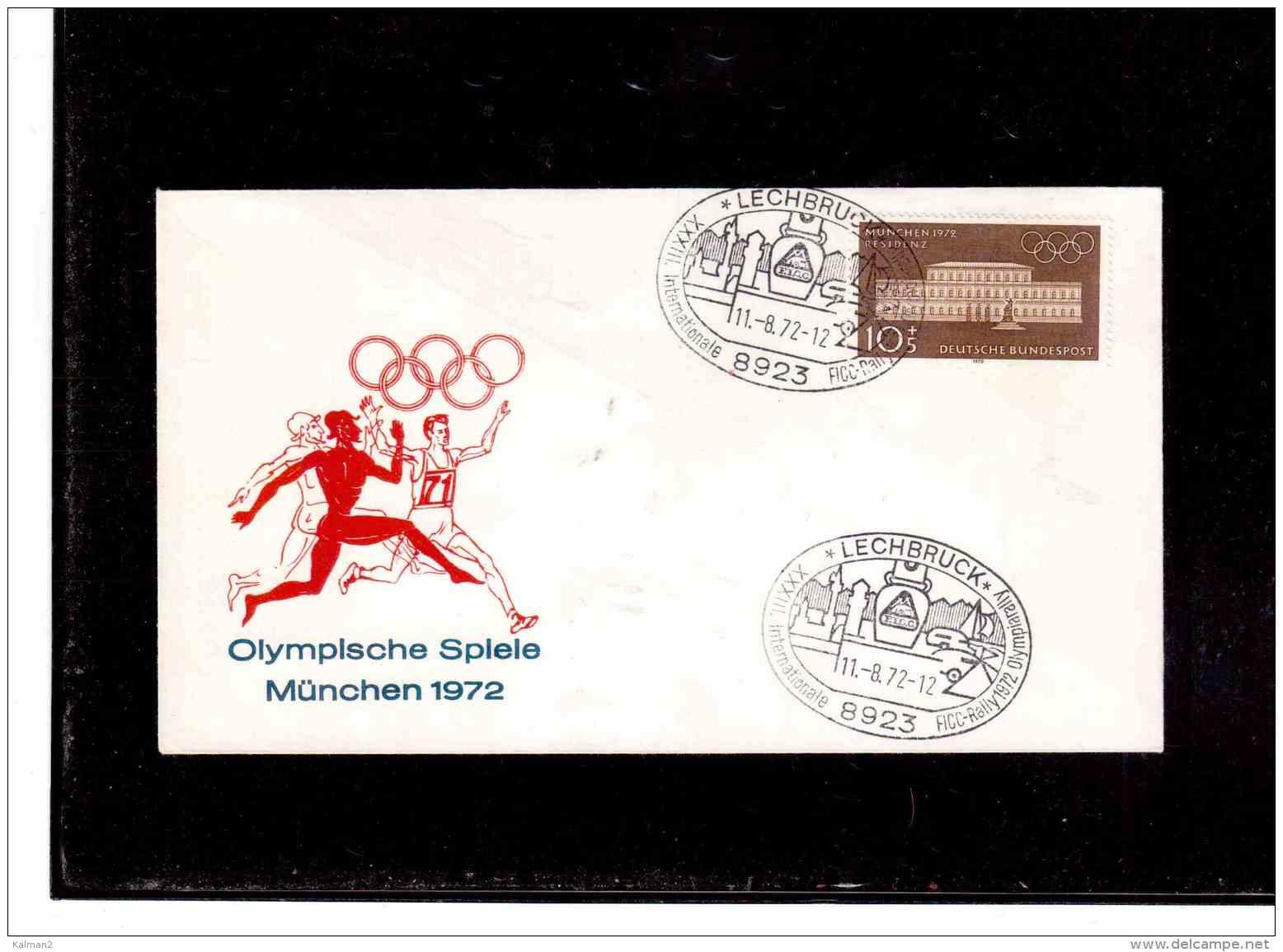 TEM8970   -  LECHBRUCK  11.8.72     /    XXXIII. INTERNATIONALE FICC-RALLY 1972 OLYMPIARALLY - Francobolli