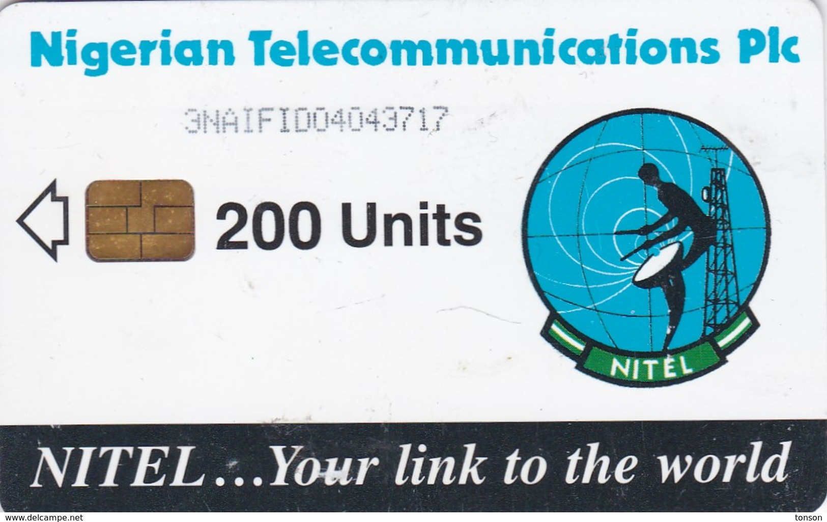 Nigeria, NGA-17c, 200 Units, Earth Station, 2 Scans.  Chip : Siemens 37 - Nigeria