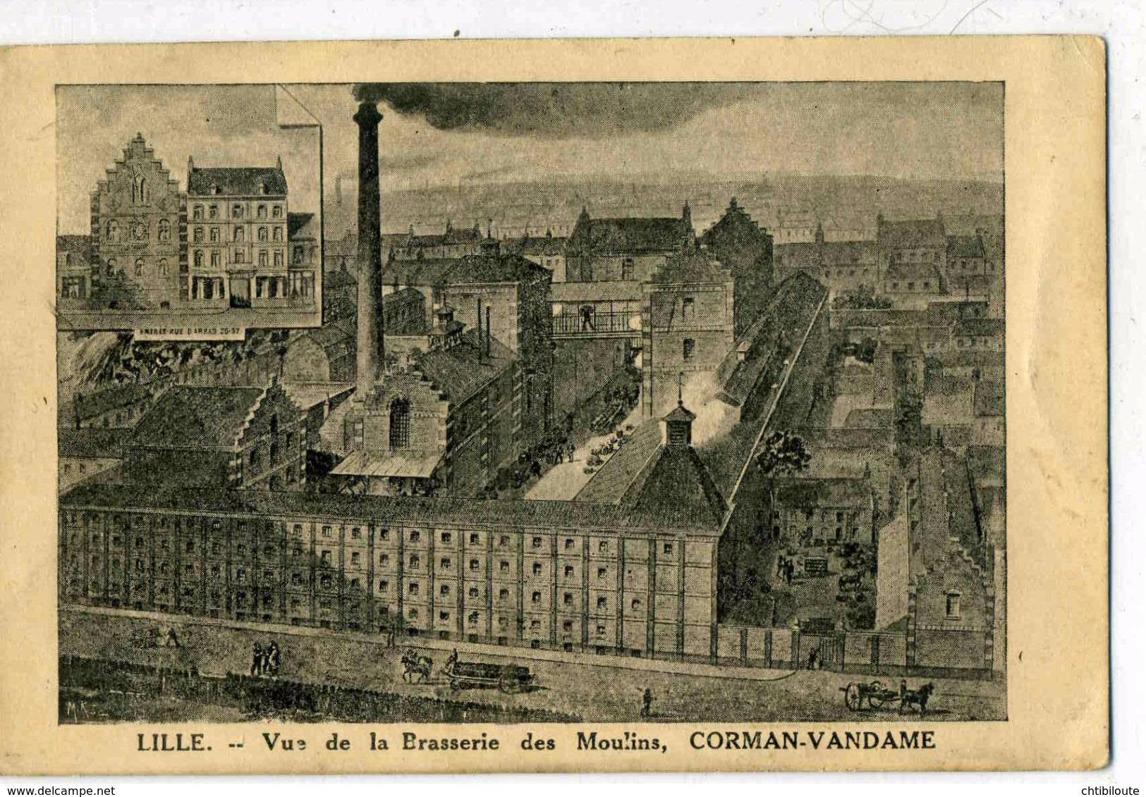 NORD    /   59   / LILLE  /    VUE DE LA BRASSERIE DES MOULINS CORMAN VANDAME     CPA 9 X 14 - Lille