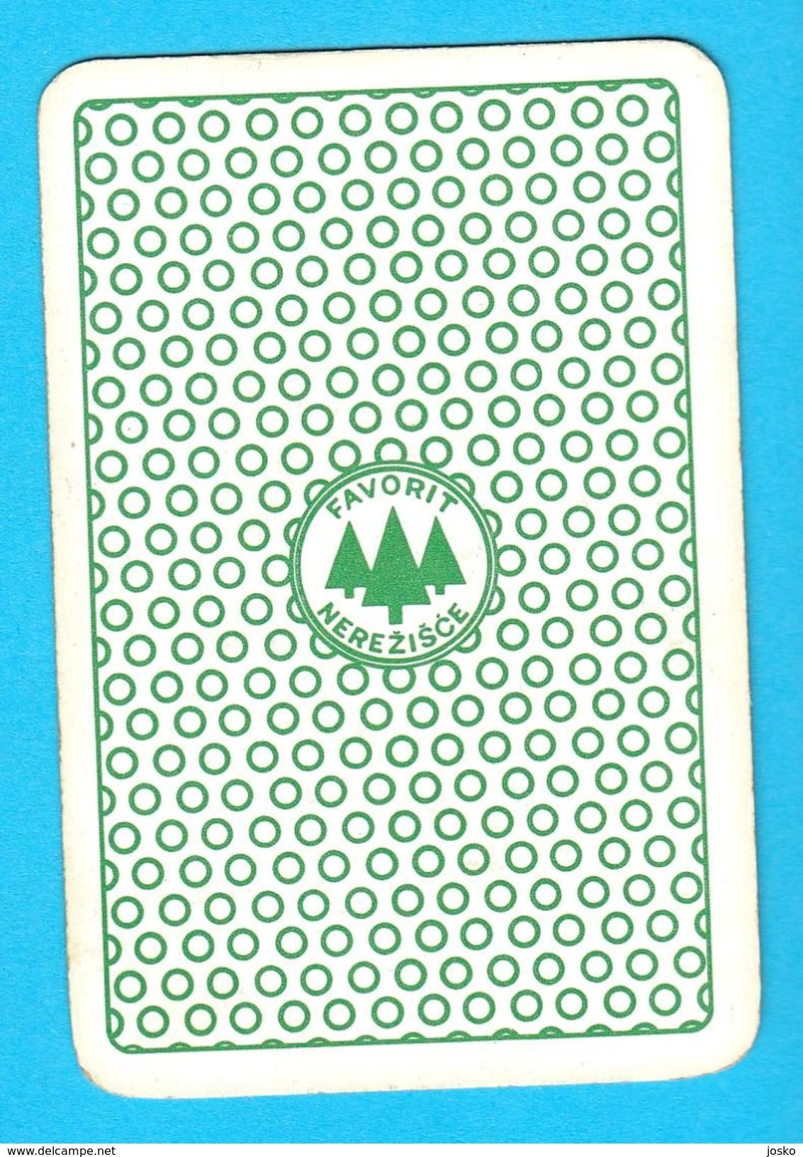 HANNA-BARBERA  - Yugoslav Vintage Playing Card No. 6 Issued 1970's By Favorit * Carte à Jouer Spielkarte SHERIFF - Spielkarten