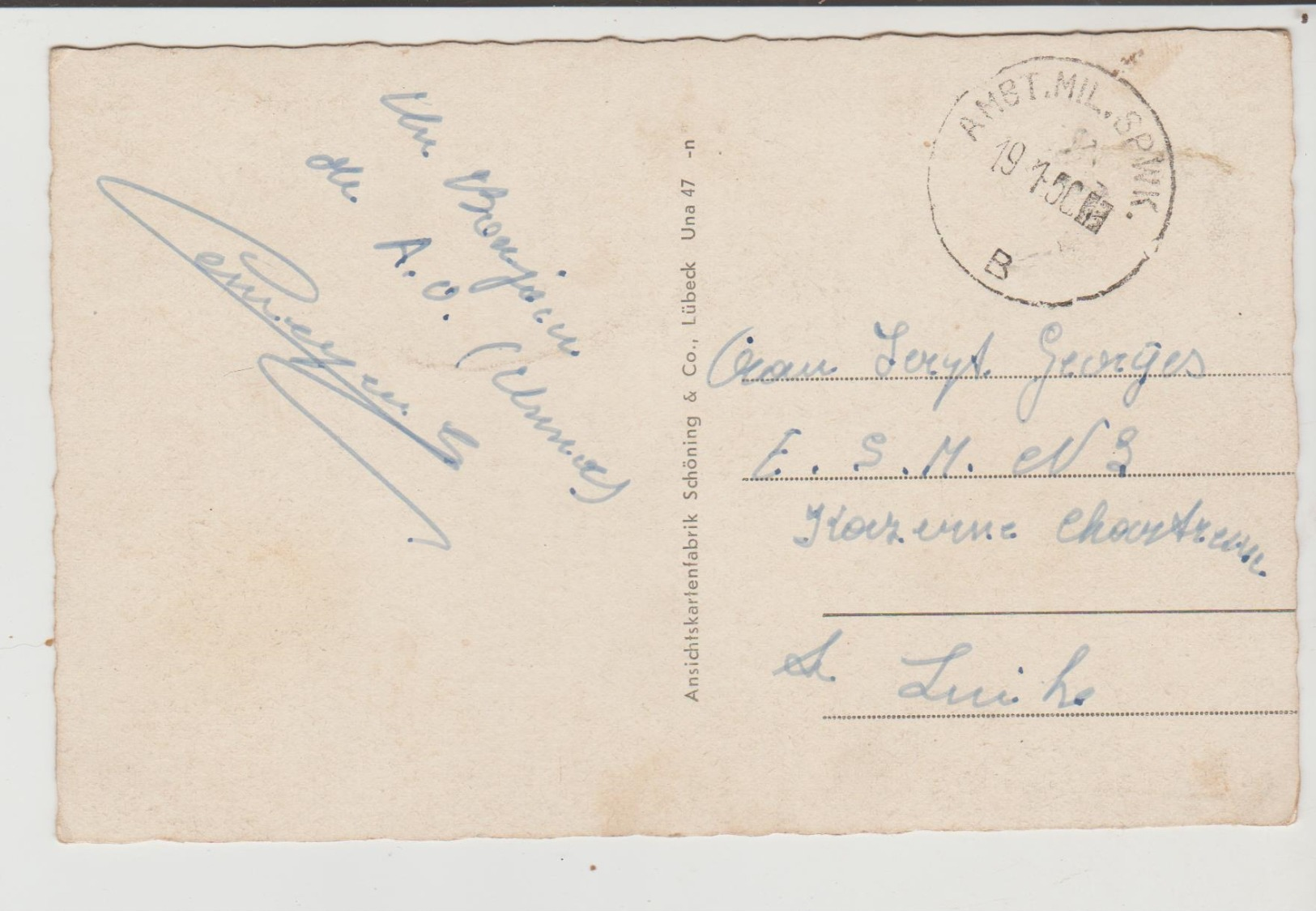 Cachet Militaire A Determiner - Military (M Stamps)