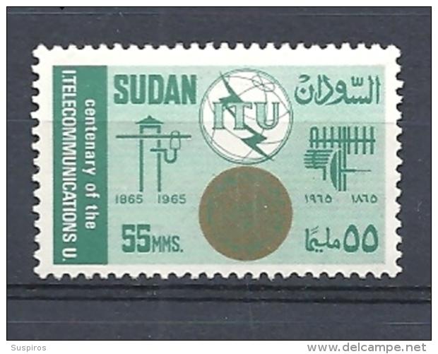 SUDAN   1965 The 100th Anniversary Of I.T.U. HINGED SET - Sudan (1954-...)