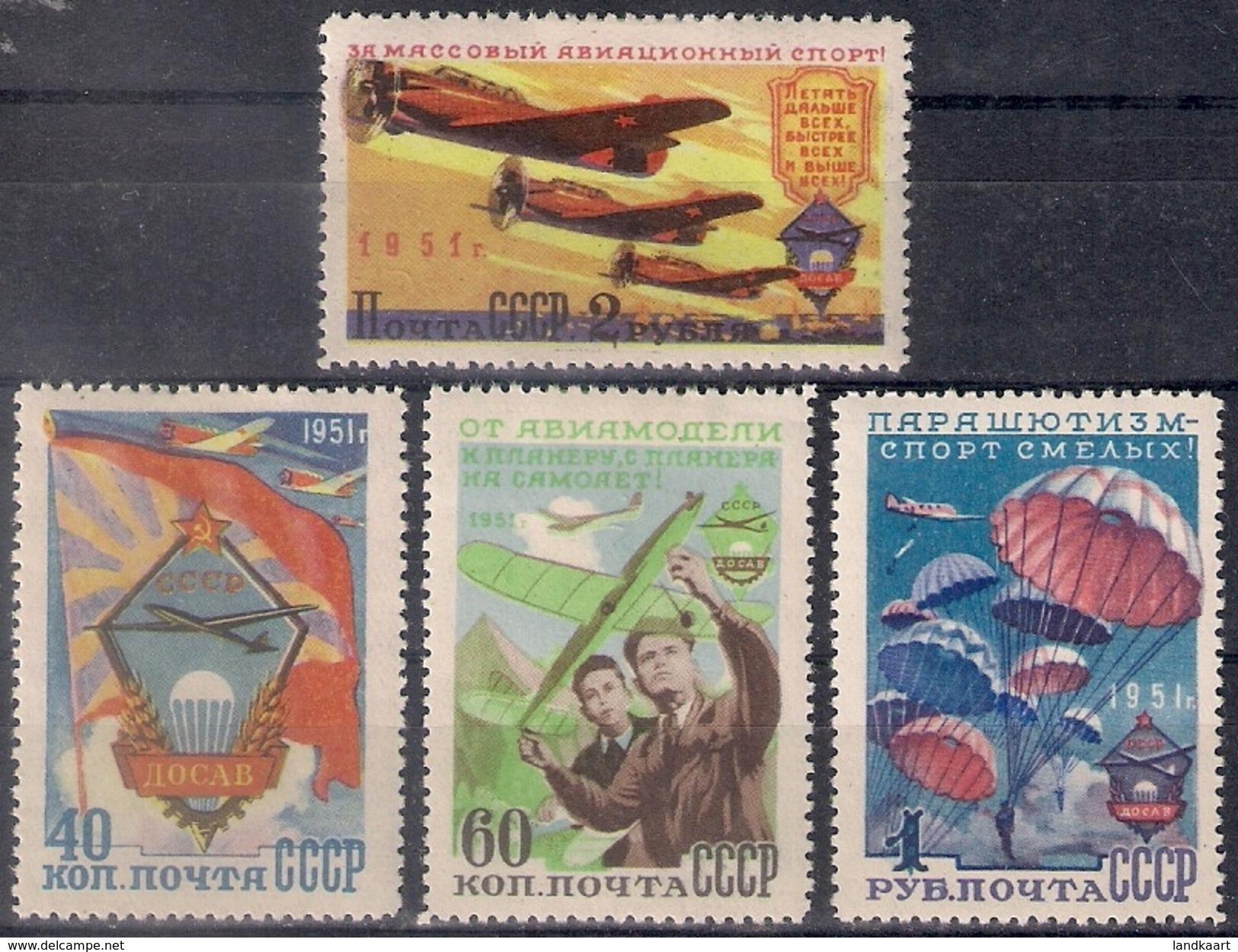 Russia 1951, Michel Nr 1593-96, MLH OG - 1923-1991 USSR