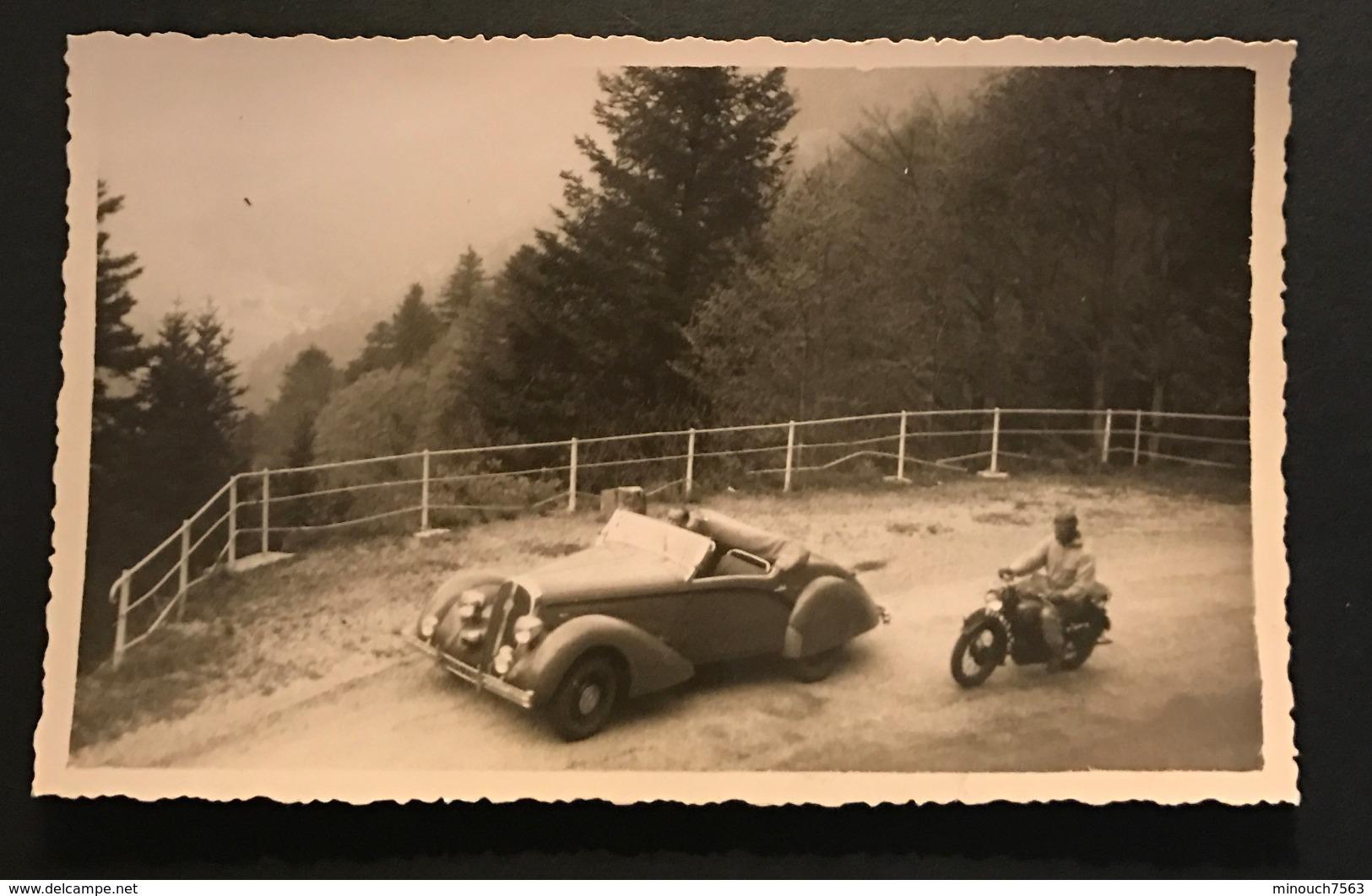 Photographie Ancienne - Automobile - Voiture Moto Ancienne - Automobiles