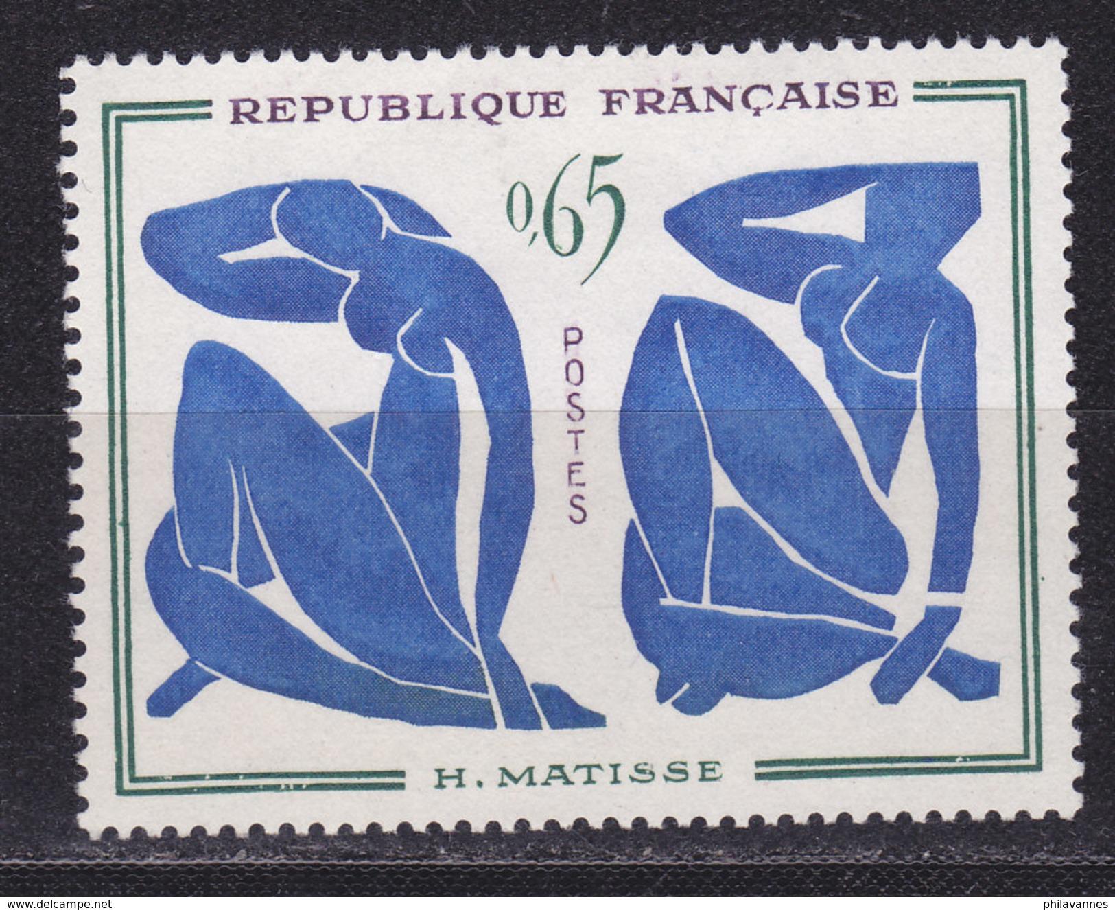 France, Petite Variété, Les Nus Bleus De Matisse , N° 1320a, Bleu Ciel, ( 17001/102) - Curiosités: 1960-69 Neufs