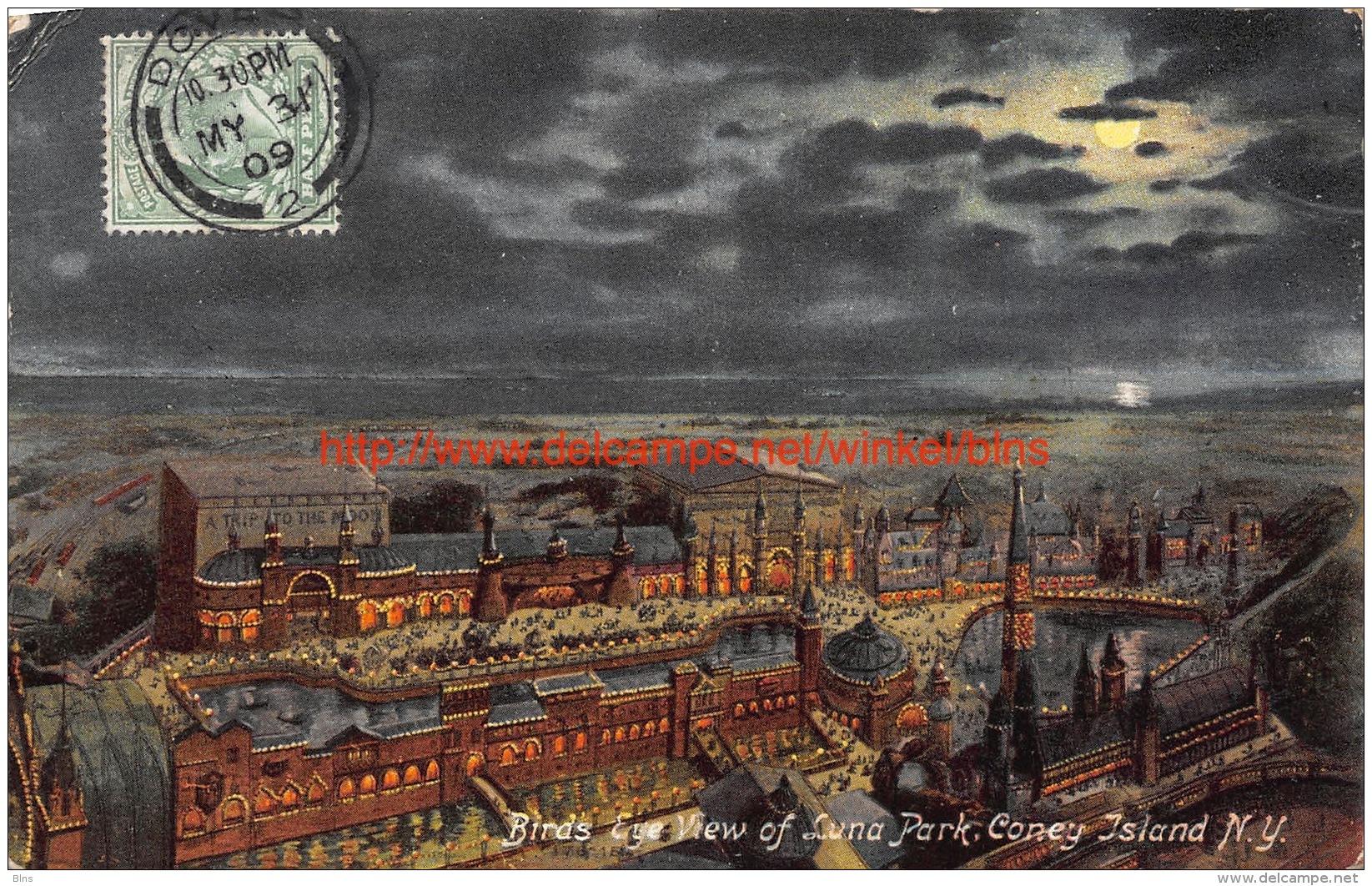 1909 Bird's Eye View Of Luna Park Coney Island New York - NY - New York
